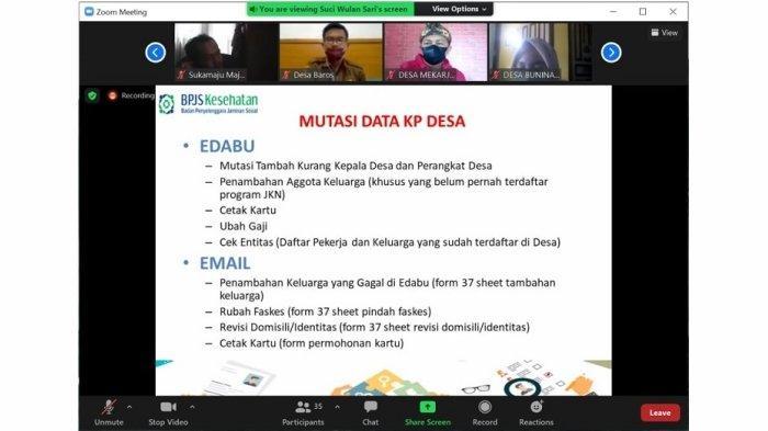 BPJS Kesehatan Jelaskan Aplikasi e-Dabu Kepada PIC Kepala Desa dan Perangkat Desa Kabupaten Bandung