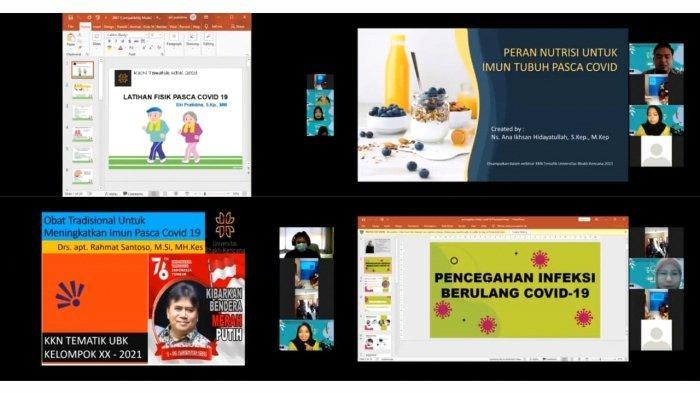 KKN Tematik Kelompok 20 mengadakan webinar yang diikuti oleh berbagai lapisan masyarakat dan disaksikan oleh masyarakat