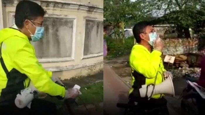 Saat Aa Gym Keliling Naik Sepeda ke Permukiman, Ingatkan Bahaya Corona, Minta Warga Tak Keluar Rumah