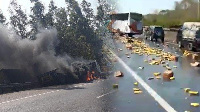 VIDEO Detik-detik Kecelakaan Beruntun di Tol Cipularang, KendaraanTerbakar, Ini Kronologinya
