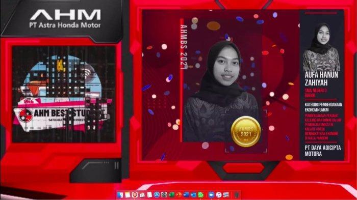 Dua Siswi Asal Jawa Barat Raih Penghargaan Terbaik Tingkat Nasional di Ajang AHM Best Student 2021