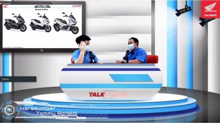 Kegiatan edukasi teknologi sepeda motor Honda dilakukan secara virtual melalui Honda Talknology sebagai komitmen AHM di bidang pendidikan.