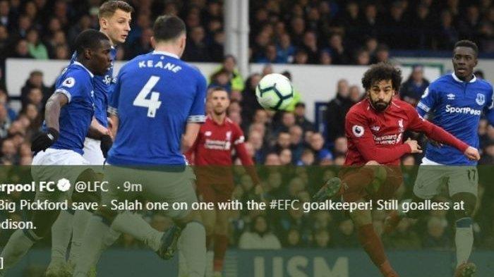 Hasil Liga Inggris- Seri Lawan Everton, Liverpool Gagal Rebut Pucuk Klasemen dari Manchester City