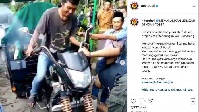 Viral, Jenazah Disebut Berat, Diangkut Gunakan Motor Tiga Roda ke Pemakaman, Warganet Beri Kritikan