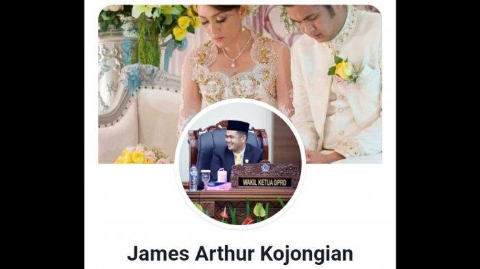 Foto akun media sosial James Arthur Kojongian yang disoroti warganet.
