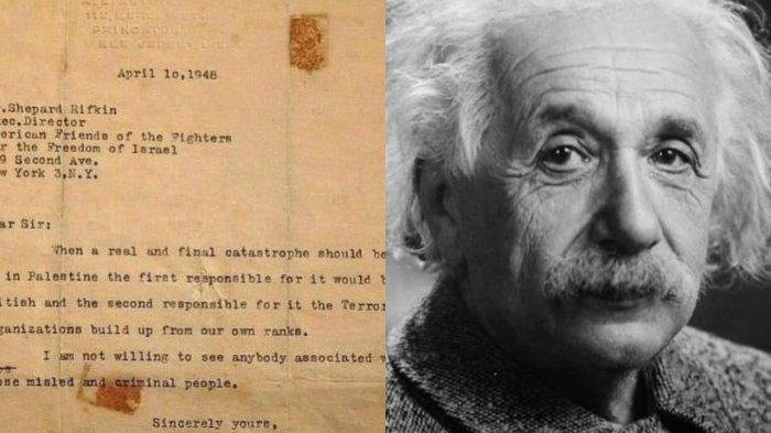 Surat Peringatan Albert Einstein Protes Kekejaman Zionis Israel terhadap Palestina, Berikut Isinya