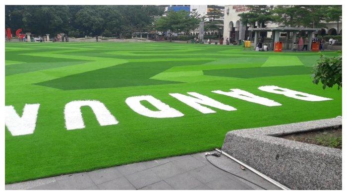 Mengintip Tampilan  Baru Taman Alun-alun Bandung