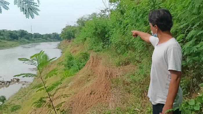 Tanah Warga Hilang saat Tanggul Sungai Cimanuk di Indramayu Longsor Diterjang Banjir