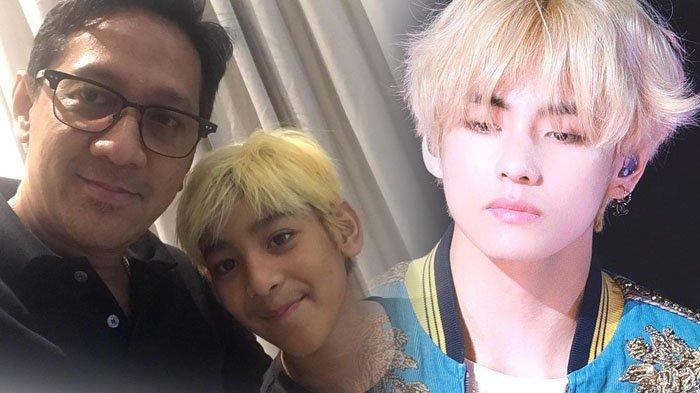 Samakan V BTS dengan Kenzy, Andre Taulany Perlihatkan Foto Anaknya yang Mirip Artis Kpop