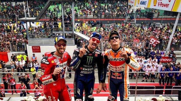 Hasil GP Malaysia, Maverick Vinales Juara, Valentino Rossi Dipecundangi Andrea Dovizioso