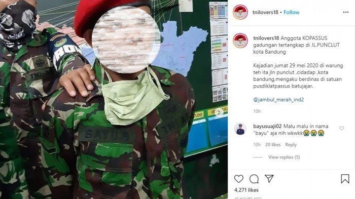 Heboh, Seorang Anggota Kopassus Gadungan Tertangkap Basah di Kota Bandung, Ngaku Dinas di Batujajar