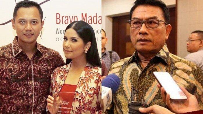 Annisa Pohan, Agus Harimurti Yudhoyono alias AHY, dan Moeldoko.