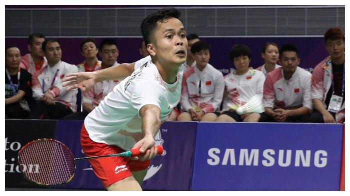 Hasil Bulutangkis Asian Games 2018, Anthony Ginting Gagal Melaju ke Final