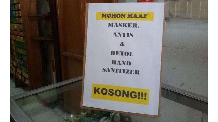 Masker dan Hand Sanitizier Masih Langka di Hampir Semua Apotek Kabupaten Ciamis