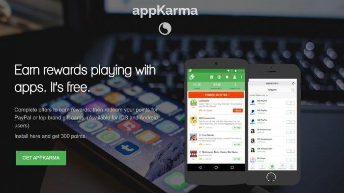 Cara Menghasilkan Uang dari Aplikasi appKarma Rewards & Gift Cards, Uang Bisa Ditukar ke Dollar
