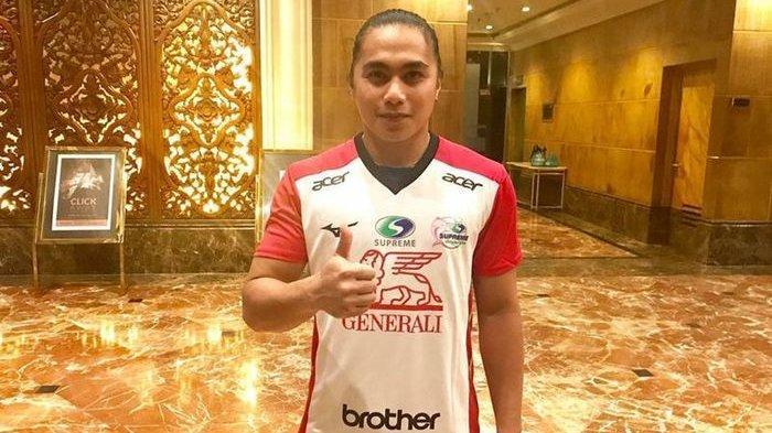 Aprilia Manganang saat masih menjadi atlet, ia berkostum tim Thailand Generali Supreme Chonburi E-Tech.