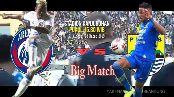LINK LIVE STREAMING TV ONLINE Arema FC vs Persib Bandung, Perang Strategi Robert vs Gomez Demi Gol
