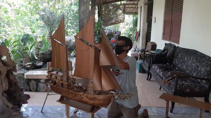 14 Tahun Jadi Pengrajin Miniatur Kapal Pinisi, Karya Arifin Sampai ke Cina, Kini Terdampak Corona