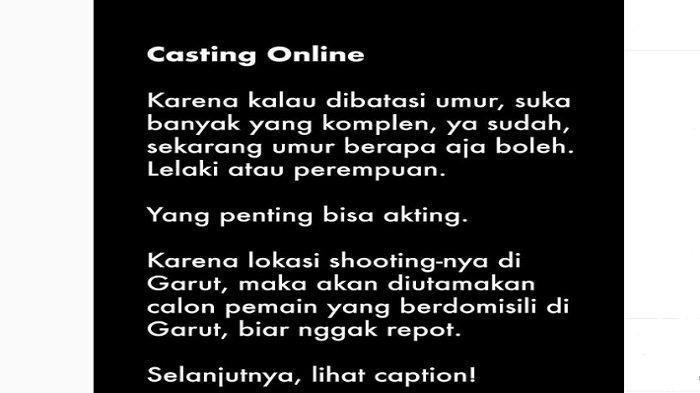 Sutradara Preman Pensiun Buka Casting Online, Diutamakan Orang Garut, Begini Caranya Daftarnya