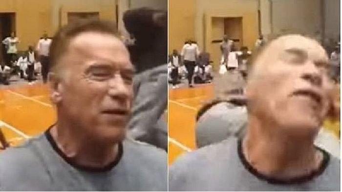 Aktor Berotot Besar Arnold Schwarzenegger Ditendang dari Belakang saat Sapa Fans di Afrika Selatan