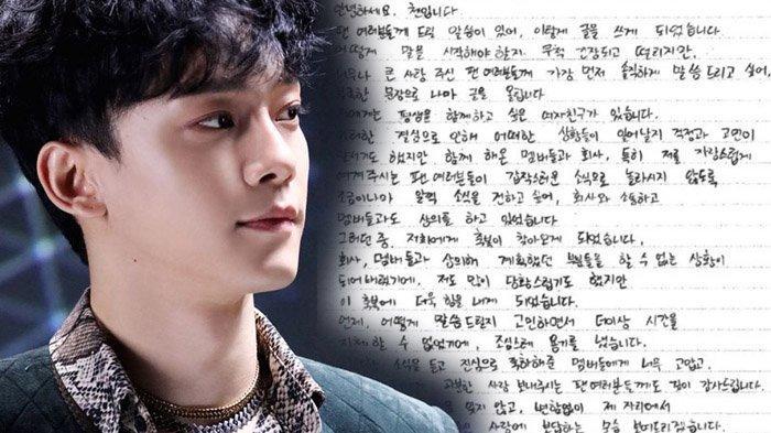 Artis Kpop Chen EXO Akan Menikah, Acara Akan Digelar Tertutup, Ini Pernyataan Lengkap dari Chen