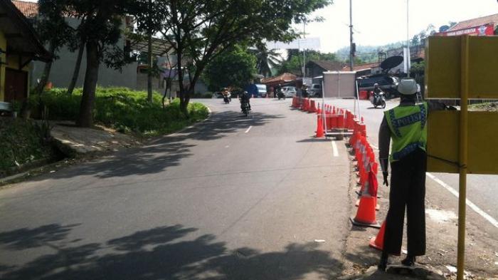 Kawasan Polres Bandung Siap Terima Limpahan Arus Kendaraan
