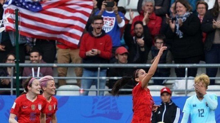 Para Wanita AS Bantai Thailand 13 Gol Tanpa Balas di Piala Dunia Wanita 2019, Rekor Tercipta