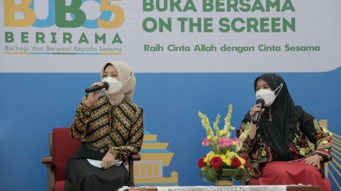 Atalia Praratya Ridwan Kamil saat menyampaikan preview Bubos 2021 pada acara Jabar Punya Informasi di Gedung Sate Bandung, Jumat (16/4/2021).