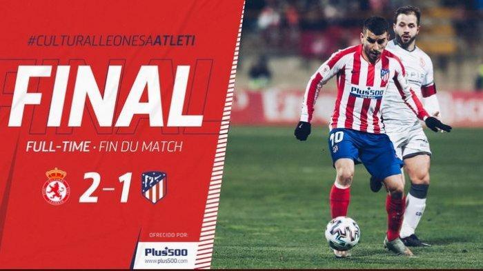 Hasil Copa del Rey, Atletico Madrid Disingkirkan Tim Divisi Tiga Spanyol, Joao Felix Cs Kalah 1-2