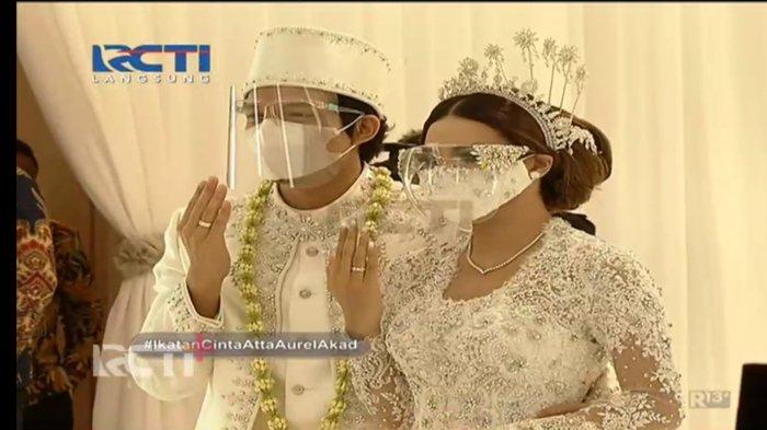 SAH! Atta Halilintar-Aurel Jadi Suami Istri, Disaksikan Jokowi dan Prabowo, Ini Foto-foto Nikahnya