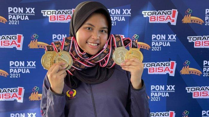 Audrey Zahra Atlet Menembak Jabar Raih Tiga Emas di PON XX Papua, Orang Tua: Saya Tak Menyangka