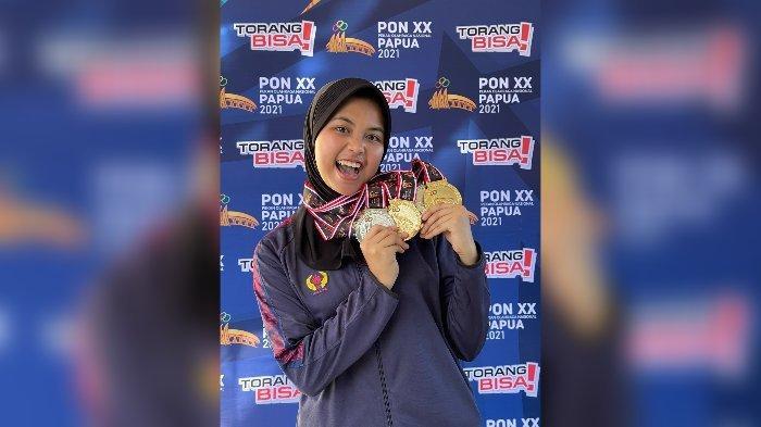 Sosok Audrey Zahra Peraih 3 Emas PON XX untuk Jabar, Dulu Atlet Voli, Pindah ke Menembak Gegara Ini