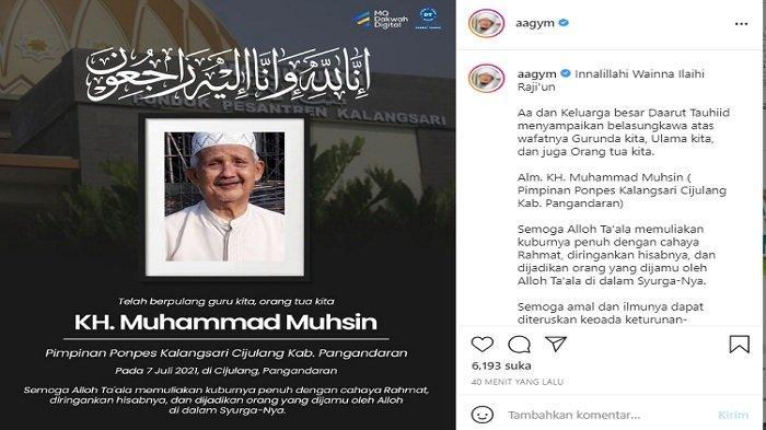 INNALILLAHI, KH Muhammad Muhsin Meninggal, Ayah Teh Ninih, Mertua Aa Gym, Ulama Besar di Jawa Barat