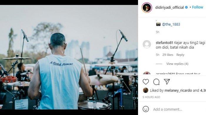 Setelah kabar Ayu Ting Ting batal menikah tersebut mencuat, postingan Didi Riyadi di akun Instagram-nya @didiriyadi_official diserbu netizen.