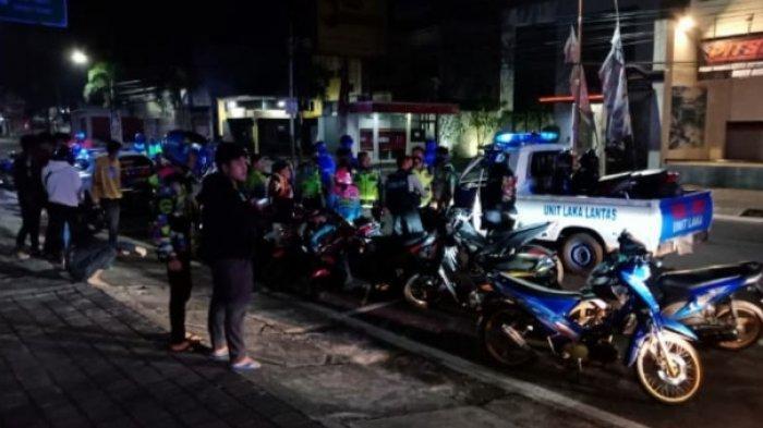 Pakai Knalpot Bising dan akan Ikut Balap Liar, 34 Sepeda Motor di Sumedang Diamankan Polisi