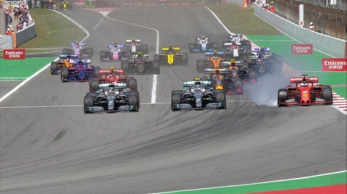 Balapan Formula 1 di seri GP Spanyol yang digelar di Sirkuit Catalunya, Minggu (12/5/2019).