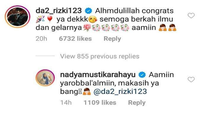 balasan Nadya Mustika untuk Rizki DA