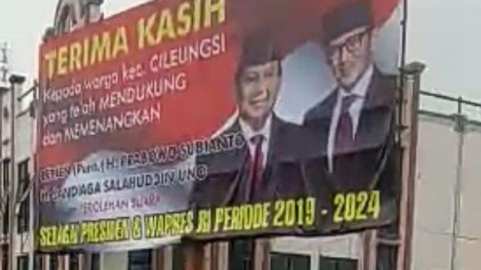 Heboh Spanduk Ucapan Selamat untuk Prabowo-Sandiaga di Bogor, Ini Kata Bawaslu