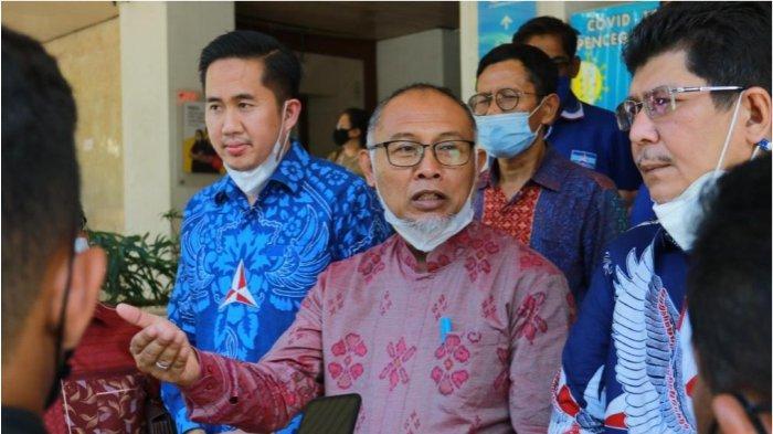 Kuasa hukum Partai Demokrat, Bambang Widjojanto pada saat penunda pelaksanaan sidang gugatan Perkara No.154/G/2021/PTUN-JKT Kamis (23/9/2021)