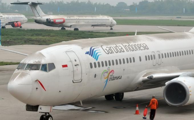 BREAKING NEWS, Pesawat Garuda Tujuan Jakarta Tergelincir di Bandara Sultan Hasanuddin Makassar
