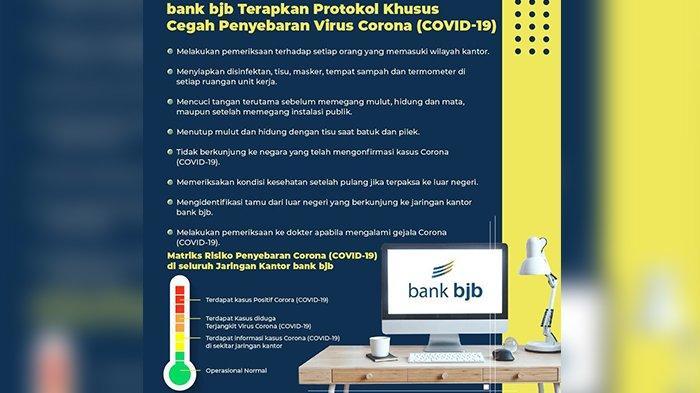 bank bjb Terapkan Protokol Khusus Cegah Penyebaran Virus Corona (Covid-19)