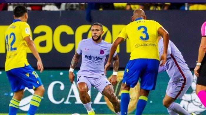 Barcelona kesulitan untuk meraih kemenangan saat menghadapi Cadiz dengan 10 pemain di Liga Spanyol 2021-2022.