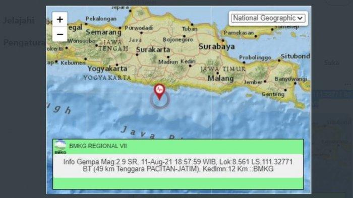 Baru saja, gempa bumi melanda Pacitan, Jawa Timur, Rabu (11/8/2021) malam.