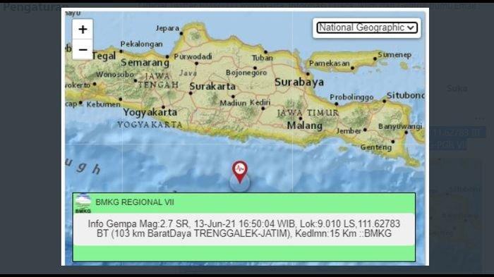 Gempa Bumi Melanda Trenggalek Jatim Sore Tadi, BMKG Sebut Pusat Lindu di Kedalaman 15 Km