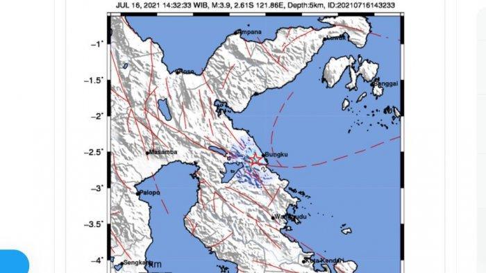 BARU SAJA Gempa Guncang Morowali, Gempa Darat, Kedalaman 14 KM, BMKG Beri Peringatan