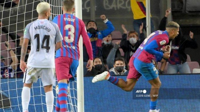 Hasil Liga Spanyol, Barcelona vs Granada, Barca Diselamatkan Gol Ronald Araujo