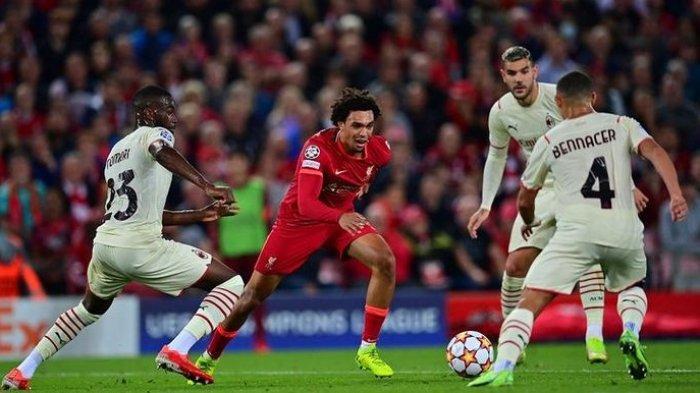 Hasil Liga Champions, AC Milan Cetak Dua Gol dalam 110 Detik, Tapi Kalah dari Liverpool