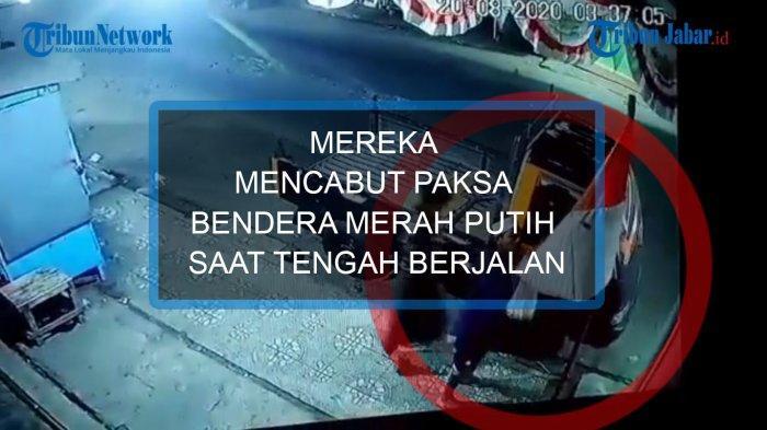 Fakta-fakta Bendera Merah Putih Dicabut Paksa 4 Pemuda, Terekam CCTV, Tak Hanya Satu, Polisi Memburu