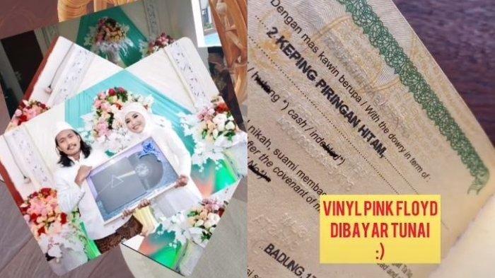 Unik, Pasangan Ini Menikah dan Pilih Piringan Hitam Jadi Maharnya, Cari Vinyl Sampai ke Singapura