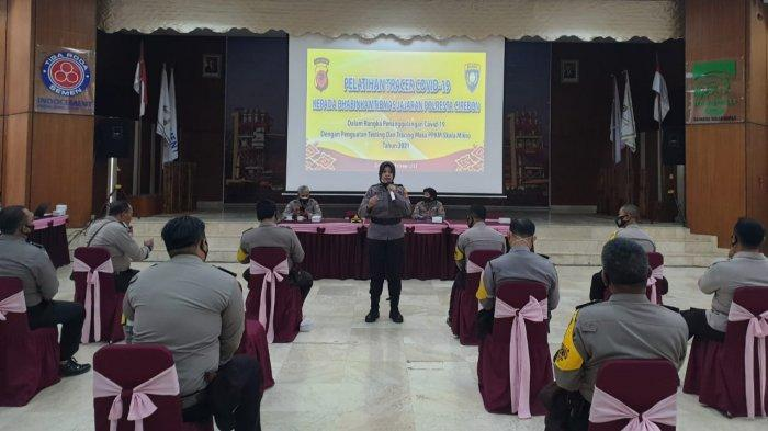 Ratusan Bhabinkamtibmas Polresta Cirebon Dilatih Jadi Tracer Covid-19